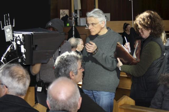 Le réalisateur Bernard Émond, lors d'une scène tournée... (Collaboration spéciale Steeve Paradis)
