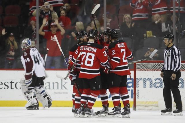 Kyle Palmieri a signé un 15e but cette saison alors que les Devils du New... (PHOTO AP)