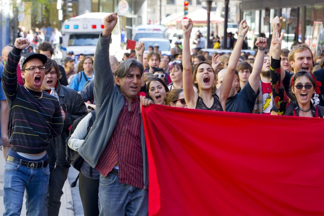 La grève étudiante de 2012 avait pour but... (Archives, La Presse)