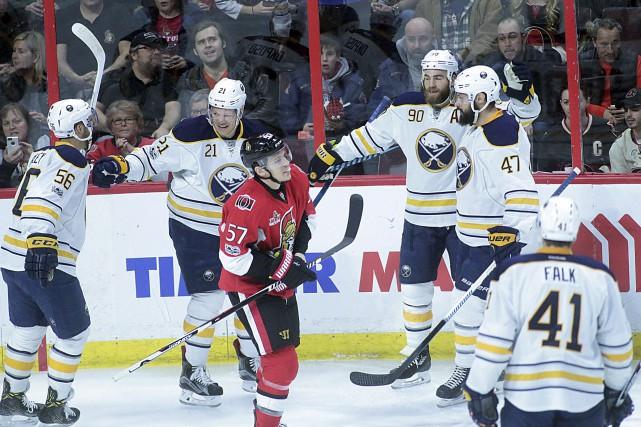 En six duels cette saison, les Sabres ont... (Etienne Ranger, Le Droit)