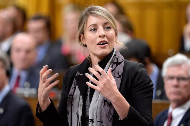 La ministre du Patrimoine, Mélanie Joly... (Archives, La Presse canadienne)