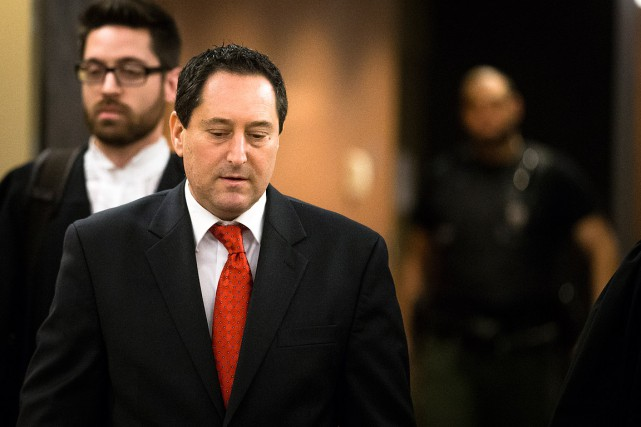 L'ancien maire Applebaum, lors d'une comparution précédente au... (Archives, La Presse)