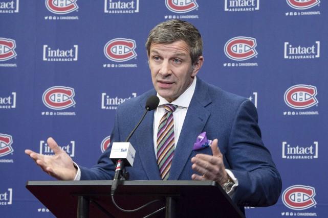 Le directeur général Marc Bergevin a parlé avec... (Paul Chiasson, La Presse canadienne)