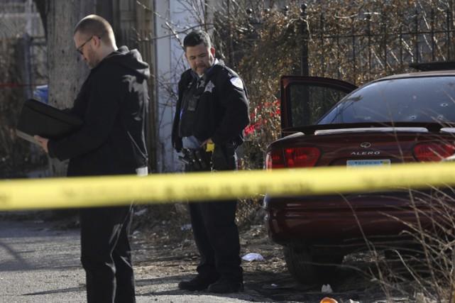 Avec 750 meurtres et quelque 3500 fusillades, Chicago... (PHOTO AP)