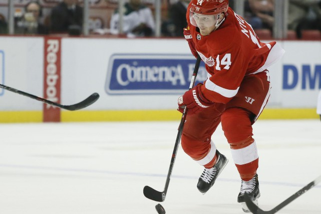 Six matchs de suspension pour Gustav Nyquist.... (Photo Duane Burleson, AP)