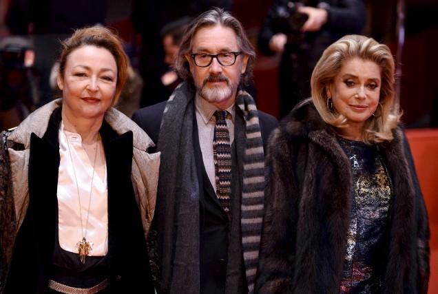 Catherine Frot, le réalisateur français Martin Provost et... (AFP, Gregor Fischer)