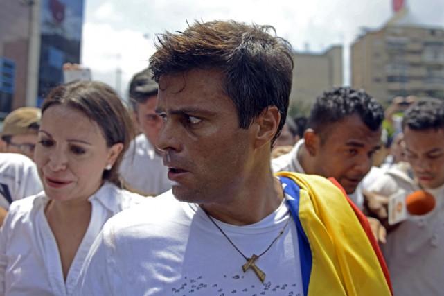 Fondateur du parti d'opposition Volonté populaire, Leopoldo Lopez... (ARCHIVES AFP)