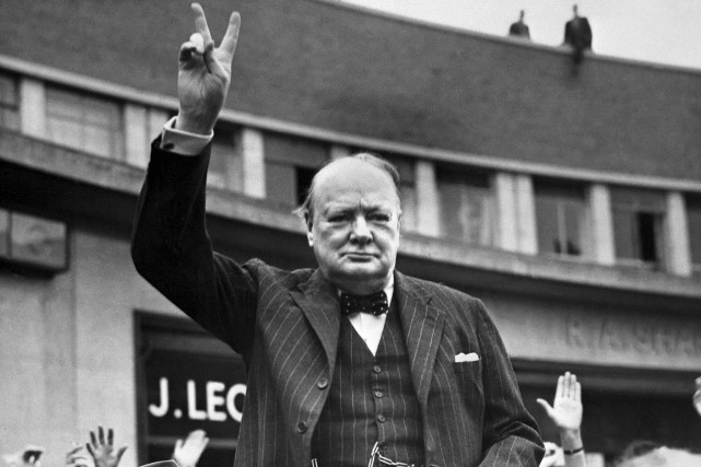 Winston Churchill en 1950... (AFP)