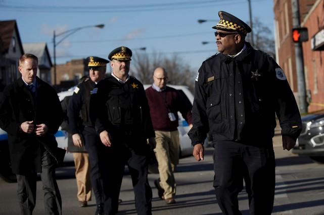 Avec 750 meurtres et quelque 3500 fusillades, Chicago... (AFP, Joshua Lott)