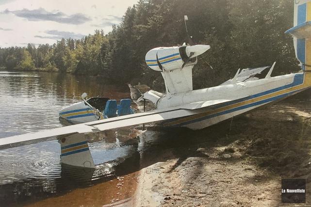 L'accident d'avion au lac Geoffrion a eu lieu... (Archives Le Nouvelliste)