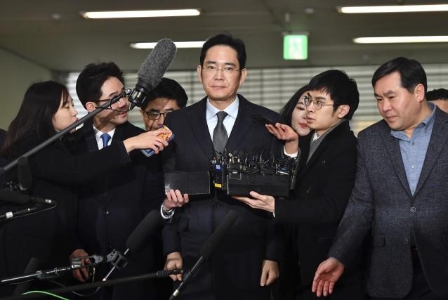 Vice-président de Samsung Electronics et fils du président... (Photo Jung Yeon-Je, AP)