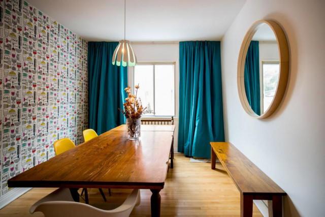 La salle à manger, chez Marie-Fleur St-Pierre, est... (Photo Marco Campanozzi, La Presse)