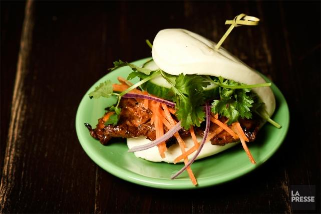 Le bao bun pourrait s'imposer comme un incontournable... (PHOTO BERNARD BRAULT, LA PRESSE)