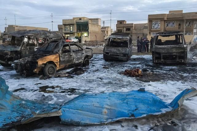 La puissante explosion s'est produite dans une zone... (PHOTO AFP)