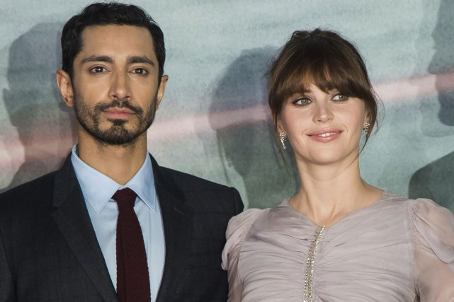Riz Ahmed et Felicity Jones lors de la... (PHOTO ARCHIVES AP)