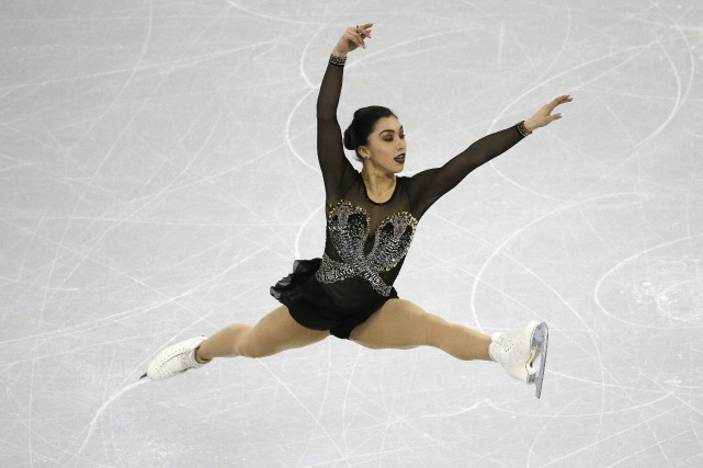 Gabrielle Daleman a amassé 68,25 points lors de... (Photo Ahn Young-joon, AP)