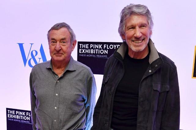 Nick Mason et Roger Waters étaient à Londres... (AFP, Ben Stansall)