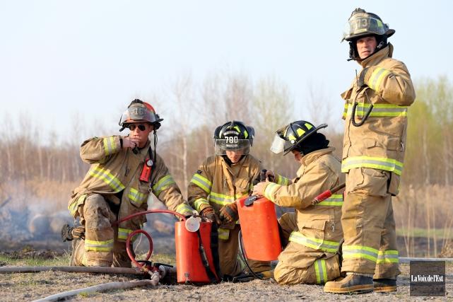 Les pompiers de Granby sont sans contrat de... (archives La Voix de l'Est)