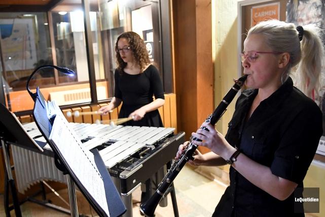 Les invités du Conservatoire de musique de Saguenay... (Photo Le Quotidien, Rocket Lavoie)