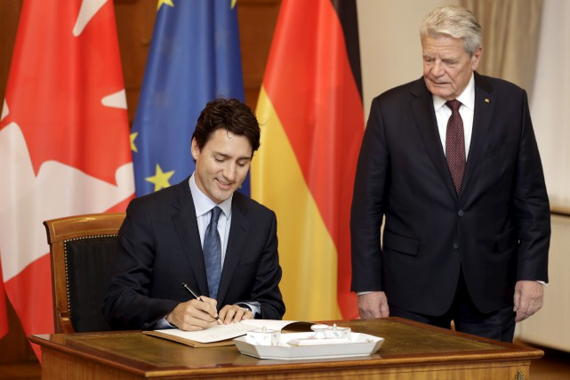 Le premier ministre canadien a précisé que l'Accord... (Michael Sohn, Associated Press)