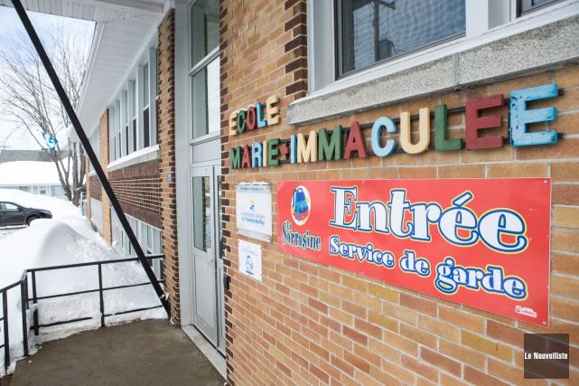 Les élèves de l'école primaire Marie-Immaculée de Maskinongé... (Olivier Croteau, Le Nouvelliste)