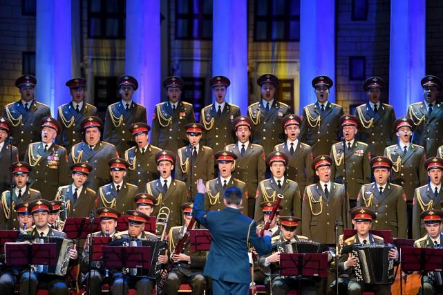 Dans un théâtre moscovite appartenant à l'armée russe,... (AFP, Natalia Kolesnikova)
