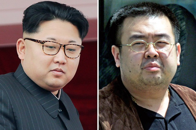 Ledirigeant nord-coréen Kim Jong-Un et sondemi-frèreKim Jong-Nam, tué... (Photos Wong Maye-E, Shizuo Kambayashi, archives AP)