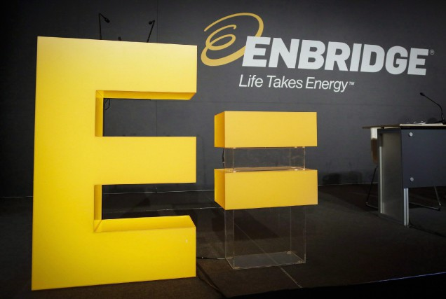 Enbridge a annoncé vendredi un bénéfice de 1,8 milliard... (Photo Jeff McIntosh, Archives La Presse Canadienne)