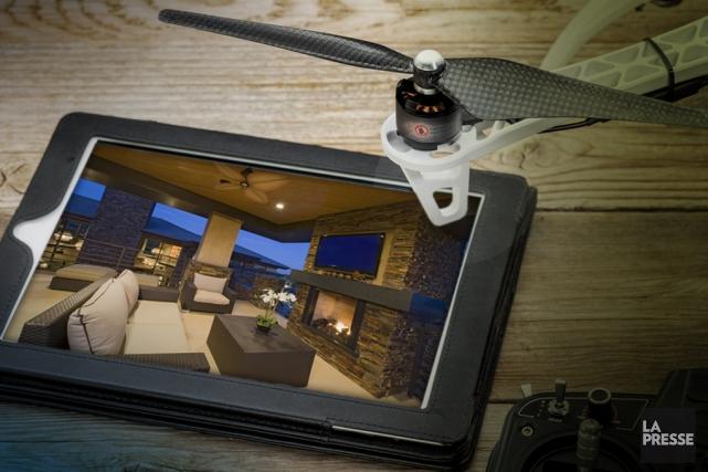 La profession de courtier immobilier ne cesse d'évoluer et la technologie fait... (PHOTOMONTAGE LA PRESSE)
