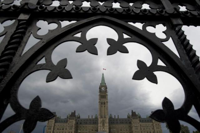 Les discussions entre parlementaires ont dérapé, jeudi, alors... (Photo Adrian Wyld, archives La Presse canadienne)