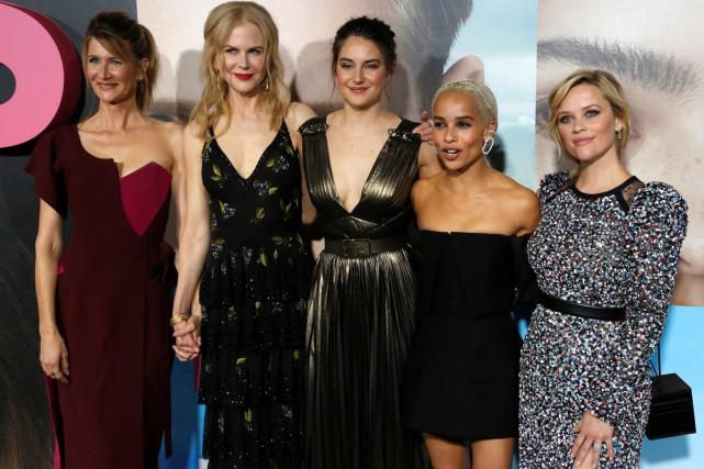 Les actrices Laura Dern, Nicole Kidman, Shailene Woodley,... (PHOTO REUTERS)
