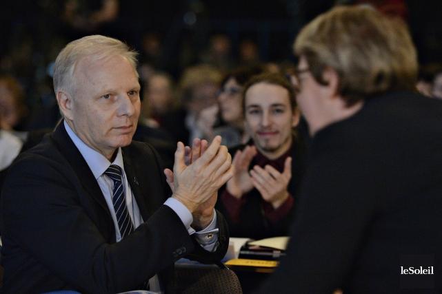 Le comité régional des jeunes des Laurentides a... (Photo Pascal Ratthé, Le Soleil)