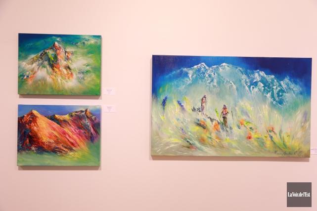 Boréart présente l'expositionAu coeur de la montagnede l'artisteManon... (Catherine Trudeau, La Voix de l'Est)