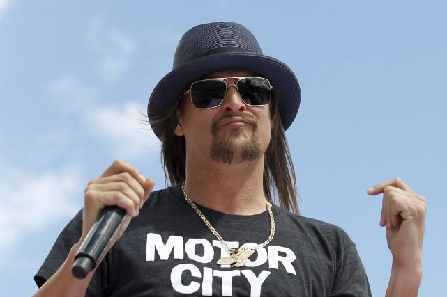 Le chanteur Kid Rock en 2015, au Daytona... (AP, Terry Renna)