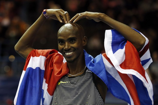 Le Britannique Mo Farah participait à sa dernière... (Photo Matthew Childs Livepic, REUTERS)
