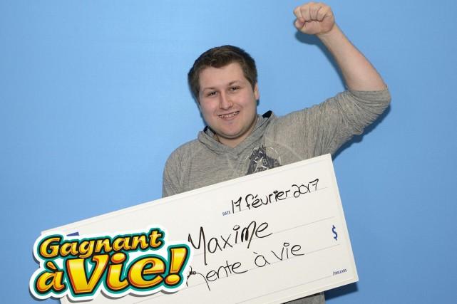 À tout juste 18ans, Maxime Sanschagrin, de la... (Photo Loto-Québec)