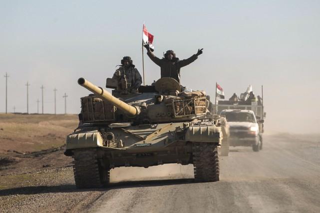 Depuis le début en octobre de la bataille... (AFP, Ahmad Al-Rubaye)