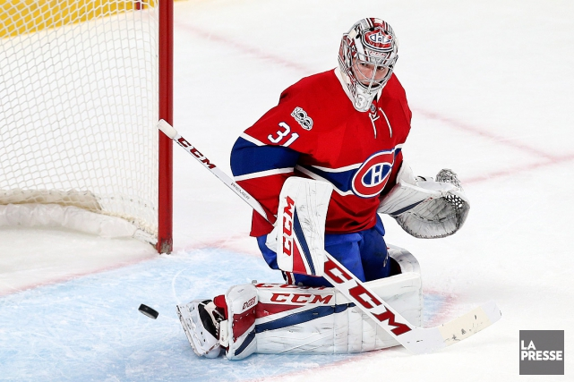 Carey Price a bloqué 30 des 32 tirs des Jets... (PHOTO ROBERT SKINNER, LA PRESSE)