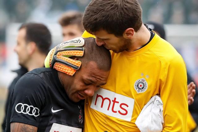 Le gardien de but du Partizan Belgrade Filip... (AFP, STR)