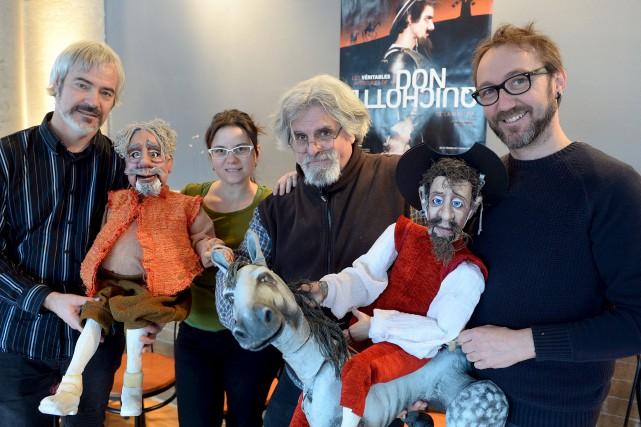 Philippe Soldevila, Savina Figueras, Pierre Robitaille et Victor... (Le Soleil, Erick Labbé)