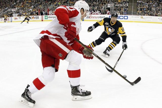 Tomas Tatar et Thomas Vanek se sont signalés tôt en troisième période, aidant... (Photo USA Today Sports)