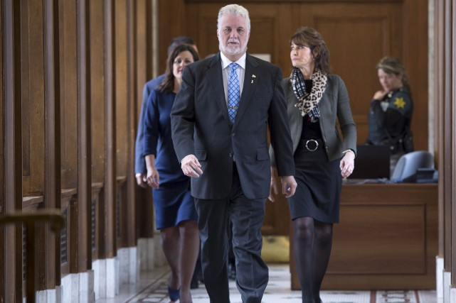 Le premier ministre du Québec, que l'on voit... (La Presse canadienne)