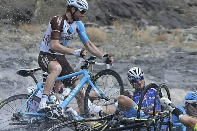 Hugo Houle s'est frotté à toutes les conditions... (AG2R La Mondiale)