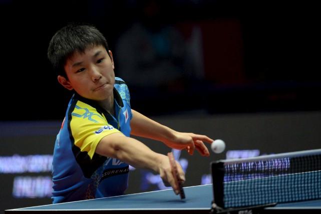 Le prodige japonais du tennis de table Tomokazu... (AFP, SAJJAD HUSSAIN)