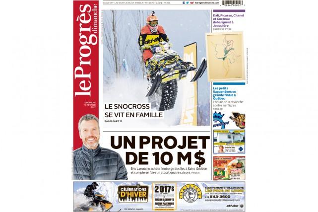 L'édition du dimanche du journal Le Quotidien, au...