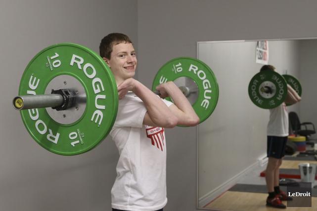 Mathias Dupuis sera le premier haltérophile à représenter... (Patrick Woodbury, Le Droit)