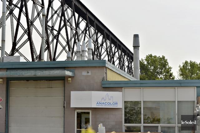 L'usine Anacolor, à Cap-Rouge... (Photothèque Le Soleil, Pascal Ratthé)