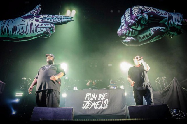 Run The Jewels en spectacle au Shrine Auditorium & Expo... (Photo tirée de la page Facebook de Run The Jewels)