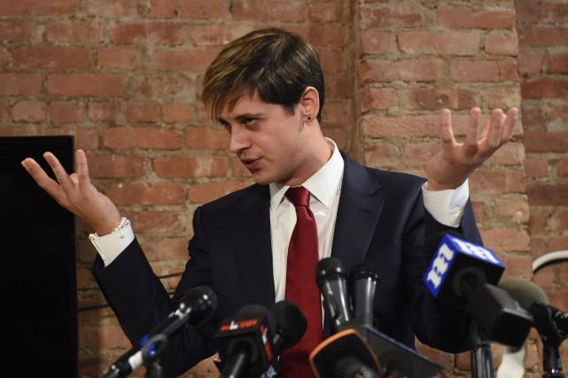 Milo Yiannopoulosa été emporté par la polémique générée... (PHOTO TIMOTHY A. CLARY, AFP)