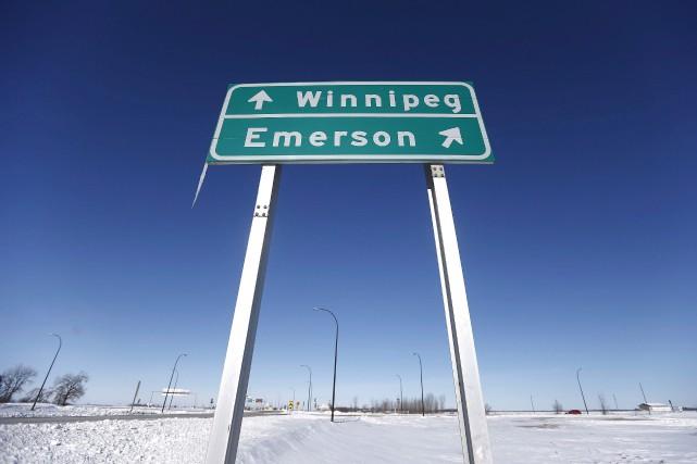 La communauté frontalière d'Emerson est l'une des régions... (Photo John Woods, La Presse canadienne)